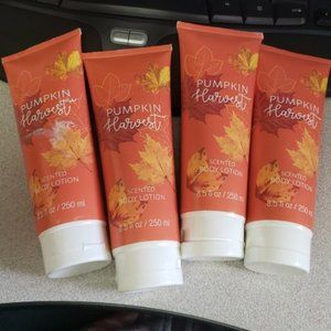 4 Pumpkin Harvest body Lotion  8.5 fl oz each
